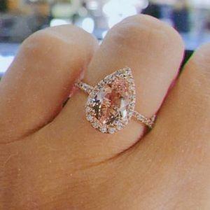 18K Rose Gold Morganite Engagement Ring